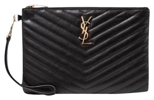 Preload https://img-static.tradesy.com/item/25805418/saint-laurent-monogram-matelasse-quilted-leather-wristlet-pouch-black-clutch-0-2-540-540.jpg