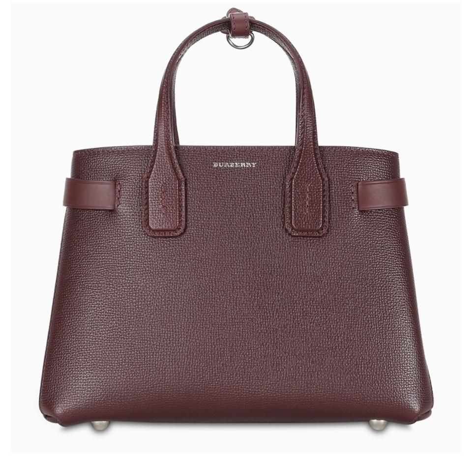 fresh styles sale retailer online Burberry Bag Df New Small Banner Vintage Check Burgundy Leather Tote