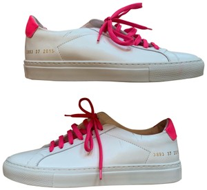 Common Projects White and Pink Athletic