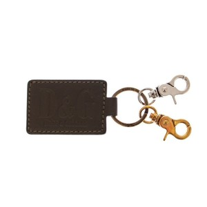 Dolce&Gabbana Green / Silver D10018 Unisex Leather Metal Ring Keychain Groomsman Gift