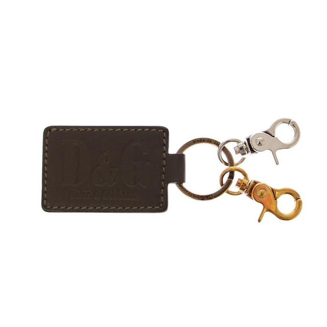 Item - Green / Silver D10018 Unisex Leather Metal Ring Keychain Groomsman Gift