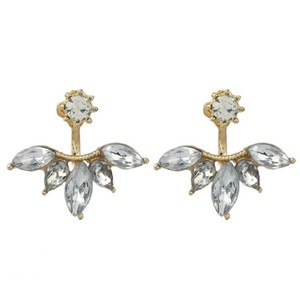 Rebecca Minkoff Gold & Crystal Jacket Earrings