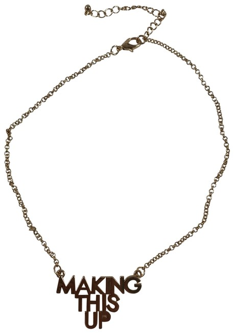 Item - Gold Plated Logo Choker Necklace