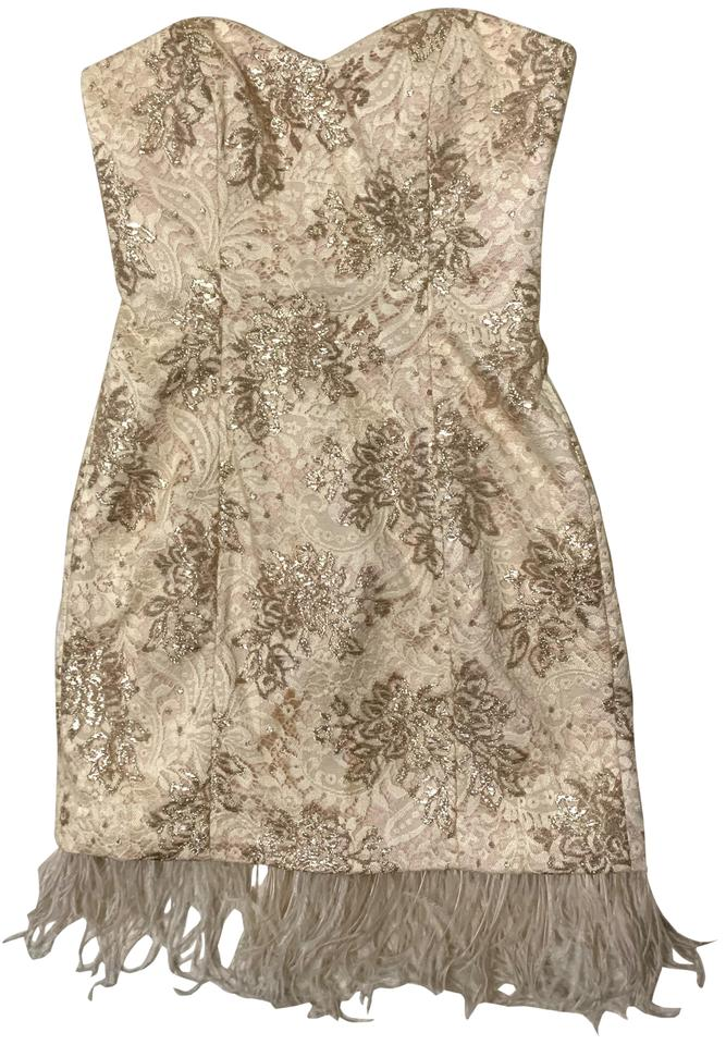 Badgley Mischka Rose Gold Mark James By Short Cocktail Dress Size 2 Xs 80 Off Retail