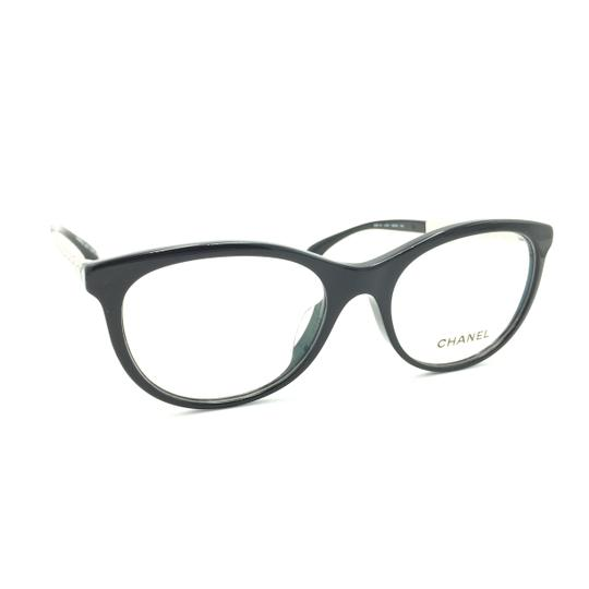 Chanel Chanel Round Black Silver 3357-A c.501 Rx Eyeglasses Image 1