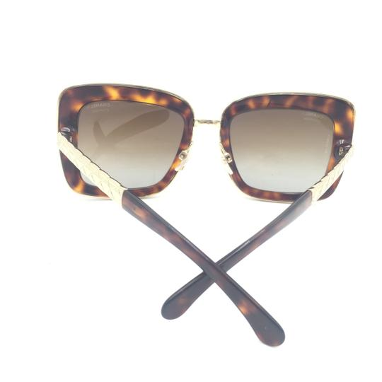 Chanel Chanel Gradient Brown Polarized Tortoise Gold 5369 c.1580 Sunglasses Image 6