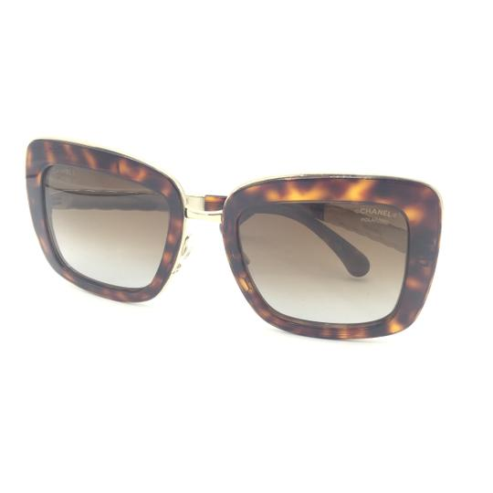 Chanel Chanel Gradient Brown Polarized Tortoise Gold 5369 c.1580 Sunglasses Image 7
