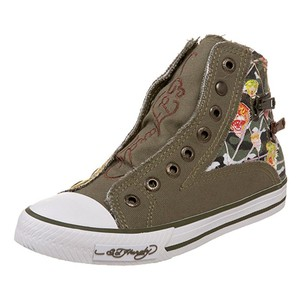Ed Hardy Sneakers Kids Canvas Military Athletic