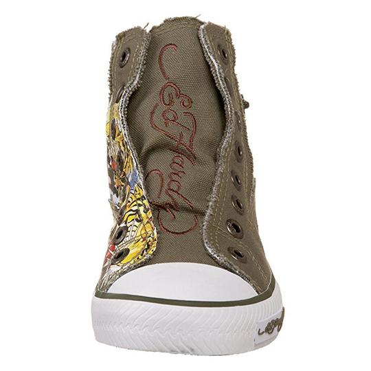 Ed Hardy Sneakers Kids Canvas Military Athletic Image 1