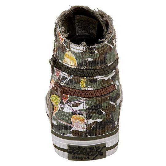 Ed Hardy Sneakers Kids Canvas Military Athletic Image 2