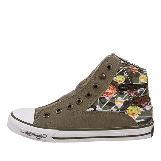 Ed Hardy Sneakers Kids Canvas Military Athletic Image 3