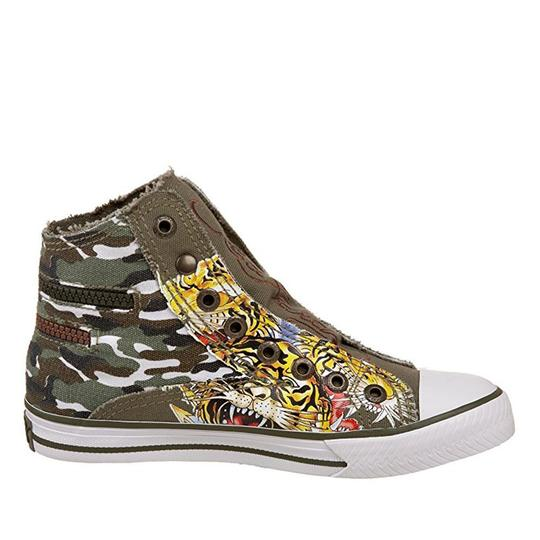 Ed Hardy Sneakers Kids Canvas Military Athletic Image 4