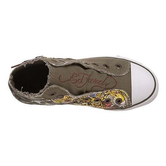 Ed Hardy Sneakers Kids Canvas Military Athletic Image 5