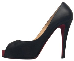 Christian Louboutin black /red exposed toe Platforms