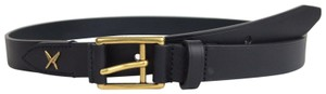 Gucci New Gucci Leather Belt Gold Buckle Feather 90/36 375182 4009
