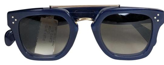 Preload https://img-static.tradesy.com/item/25807923/celine-blue-and-gold-bridge-unisex-sunglasses-0-2-540-540.jpg