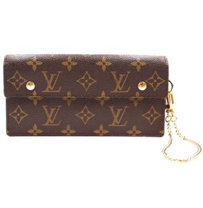 Louis Vuitton flap Long Compact organizer Wallet with Accordion Chain