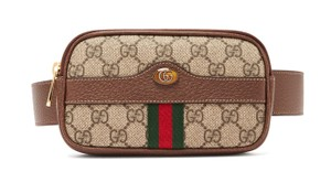Gucci Canvas Gold Hardware Belted Cross Body Bag