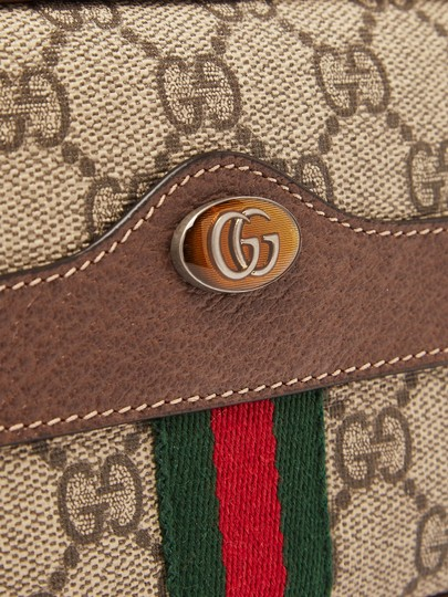 Gucci Canvas Gold Hardware Belted Cross Body Bag Image 4