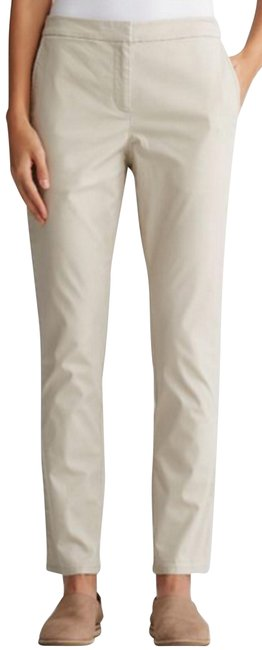 Item - Beige Pebble Washed Organic Cotton Twill Slim Ankle Pants Size 2 (XS, 26)