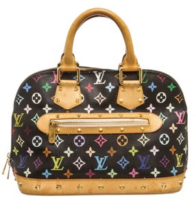Louis Vuitton Takashi Satchel in Black and Multicolor