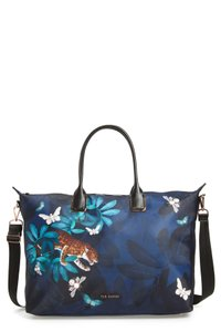 Ted Baker Travel Beach Shoulder Weekend Diaper Tote in Blue