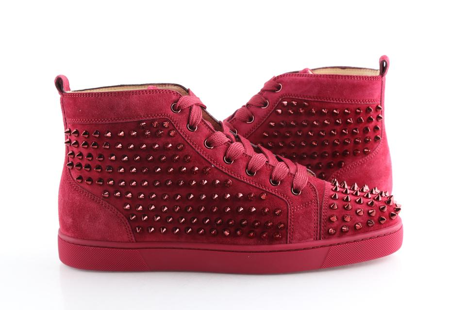 hot sale online dc970 19e67 Christian Louboutin Red Sanguine Spike Flat Sneakers Shoes 16% off retail