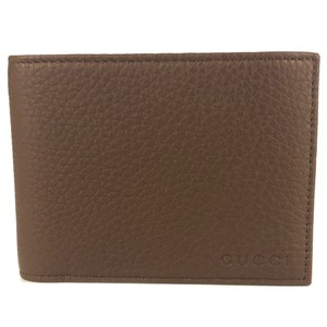 Gucci GUCCI 333042 Men's Embossed Logo Bifold Leather Wallet