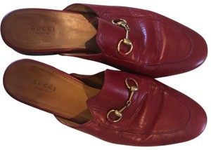 Gucci Hibiscus red/gold Mules