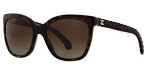 Chanel CH5288-Q c.714/S9 Havana Leather Quilted Sunglasses 57mm Italy