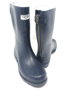 Forever Young Midcalf Rubber Rainboots Wellies Galoshes Black Boots