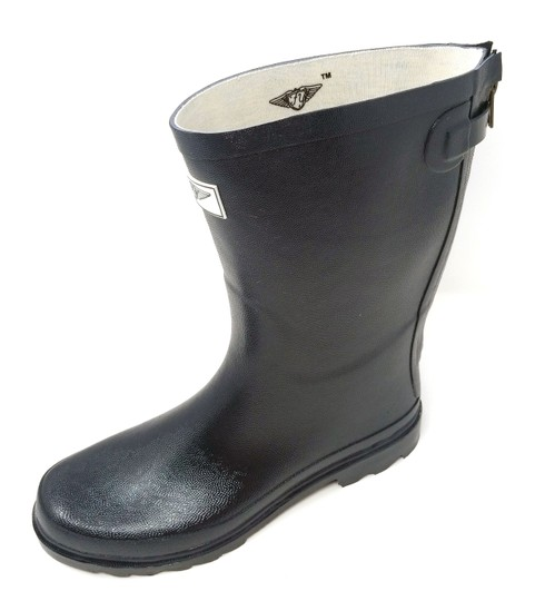 Forever Young Midcalf Rubber Rainboots Wellies Galoshes Black Boots Image 1