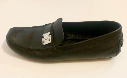 Louis Vuitton Mocassin Loafers Leather Stitched Black Flats Image 1