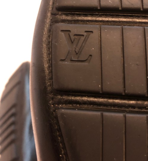Louis Vuitton Mocassin Loafers Leather Stitched Black Flats Image 3