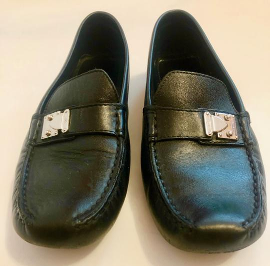 Louis Vuitton Mocassin Loafers Leather Stitched Black Flats Image 8
