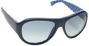 Chanel CH5288-Q c.714/S9 Blue Black Leather Quilted Sunglasses 56mm Italy