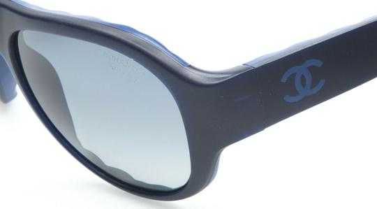 Chanel CH5288-Q c.714/S9 Blue Black Leather Quilted Sunglasses 56mm Italy Image 1