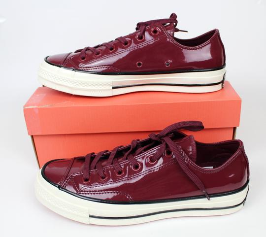Converse Sneakers 70's Low Top DARK BURGUNDY patent leather Athletic Image 1