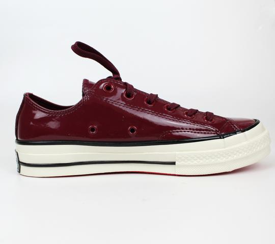 Converse Sneakers 70's Low Top DARK BURGUNDY patent leather Athletic Image 2