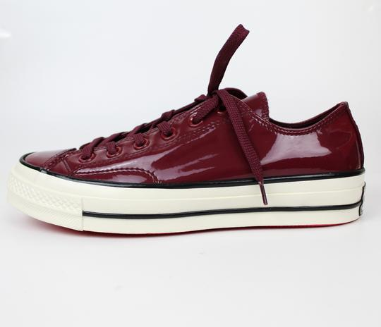 Converse Sneakers 70's Low Top DARK BURGUNDY patent leather Athletic Image 3