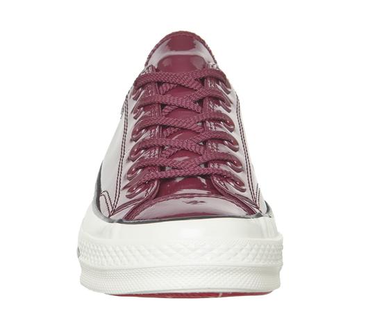 Converse Sneakers 70's Low Top DARK BURGUNDY patent leather Athletic Image 4