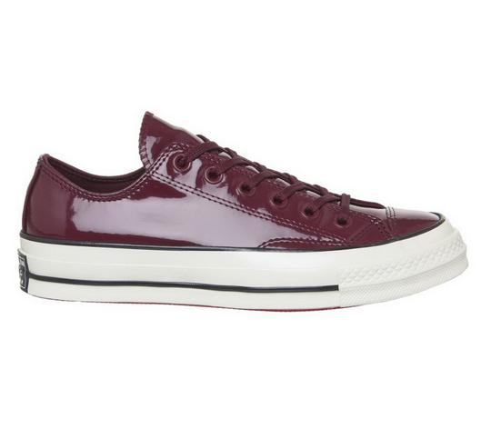 Converse Sneakers 70's Low Top DARK BURGUNDY patent leather Athletic Image 5