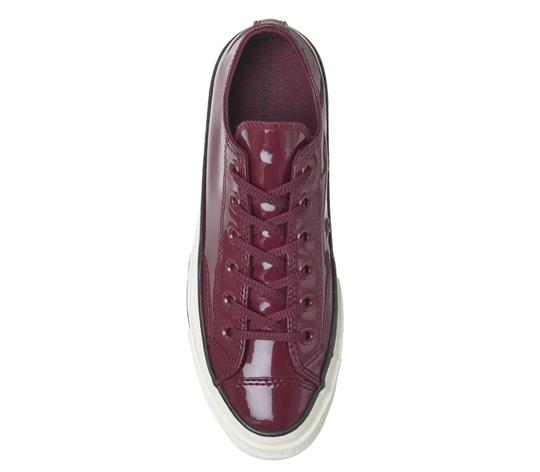 Converse Sneakers 70's Low Top DARK BURGUNDY patent leather Athletic Image 6