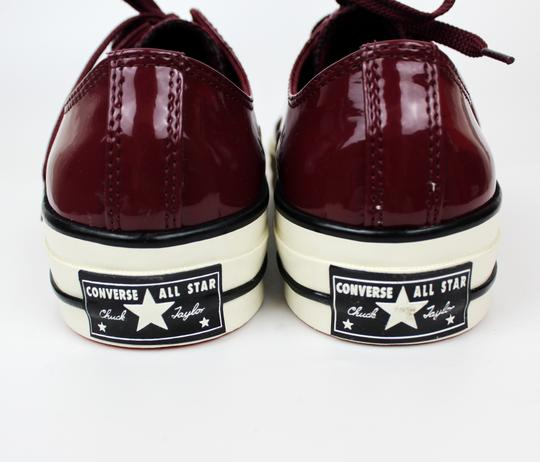 Converse Sneakers 70's Low Top DARK BURGUNDY patent leather Athletic Image 7