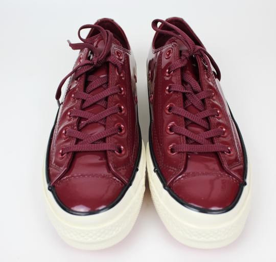Converse Sneakers 70's Low Top DARK BURGUNDY patent leather Athletic Image 8