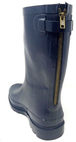 Forever Young Midcalf Rubber Rainboots Wellies Galoshes Navy Boots Image 1