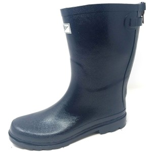 Forever Young Midcalf Rubber Rainboots Wellies Galoshes Navy Boots