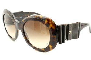 Chanel CH5282-Q c.714/S5 Havana Frame Large Leather Bow Sunglasses 56mm Italy
