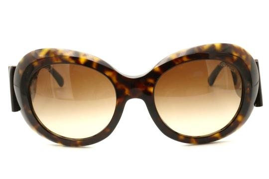 Chanel CH5282-Q c.714/S5 Havana Frame Large Leather Bow Sunglasses 56mm Italy Image 1