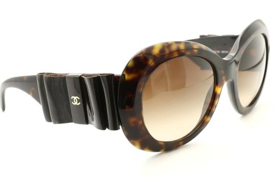 Chanel CH5282-Q c.714/S5 Havana Frame Large Leather Bow Sunglasses 56mm Italy Image 2